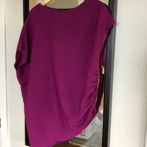 Worn once! Fuchsia Ted Baker side zip blouse